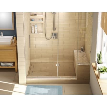 Tile Redi Rt3048l Tbn Rb30 Kit Tileable Drain 30 X 60 Corner Shower Pan With Single Curb Bench And 2 Left