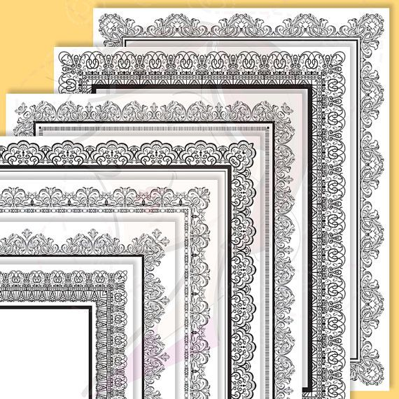 8x11 Certificate Border Frames Clip Art by MayPLDigitalArt on Etsy ...