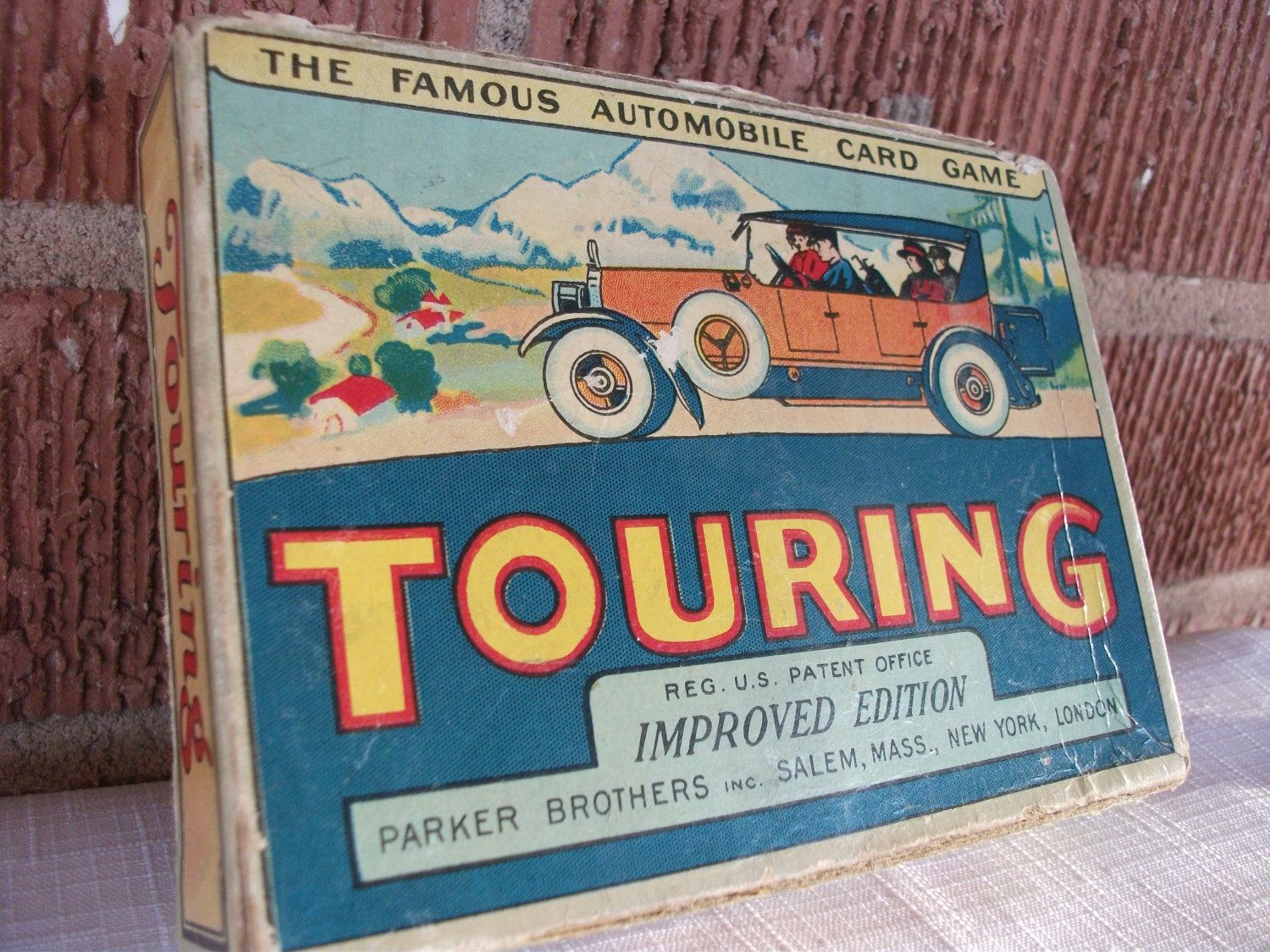 1926 Touring Parker Brothers Travel Game. 15.00, via Etsy