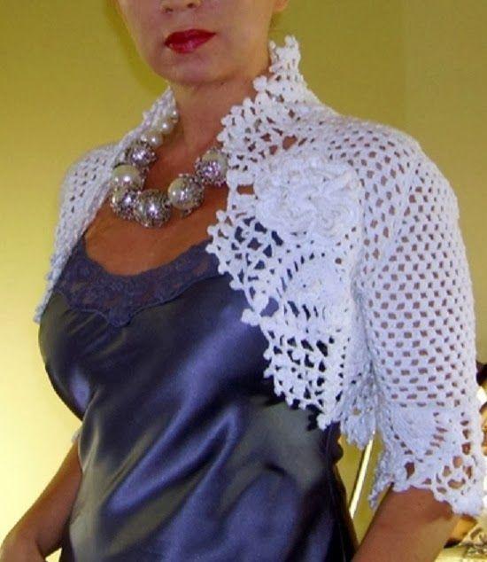 Ricette crochet DI: Elegante Bolero in crochet | uncinetto: bolero ...