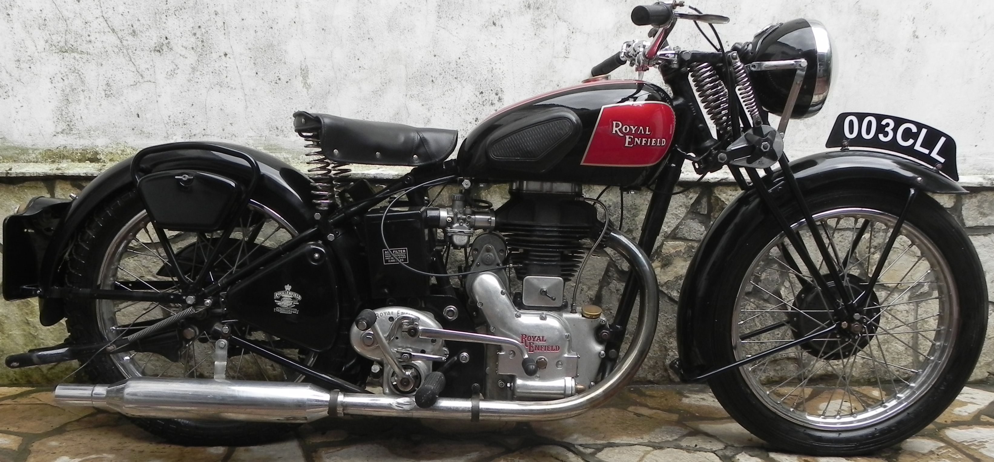 moto royal enfield modelo g 1947. Black Bedroom Furniture Sets. Home Design Ideas