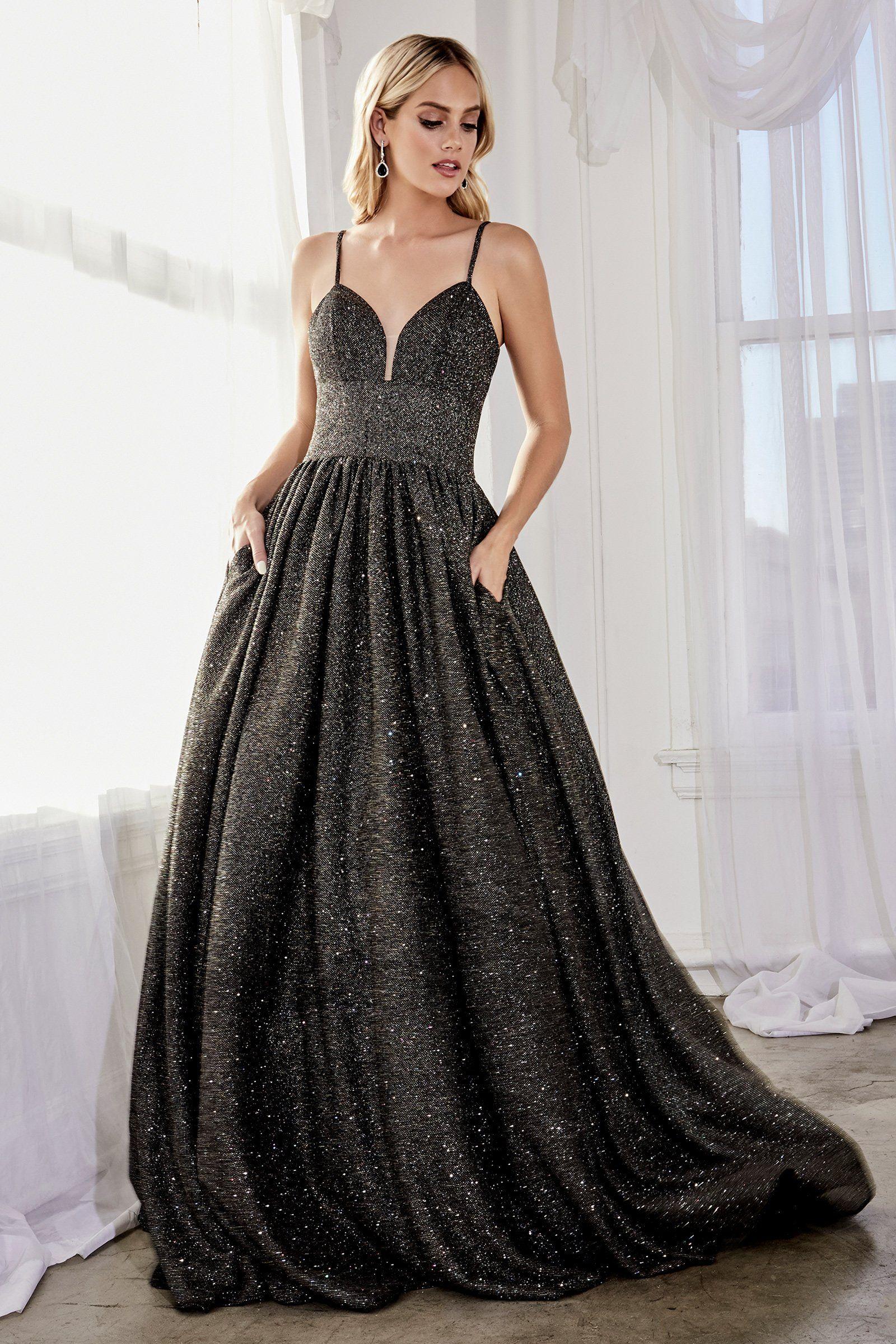 Cinderella Divine J796 Glitter Knit Sleeveless Corset Back Ballgown In 2021 Glitter Dress Ball Gowns Grey Prom Dress [ 2400 x 1600 Pixel ]
