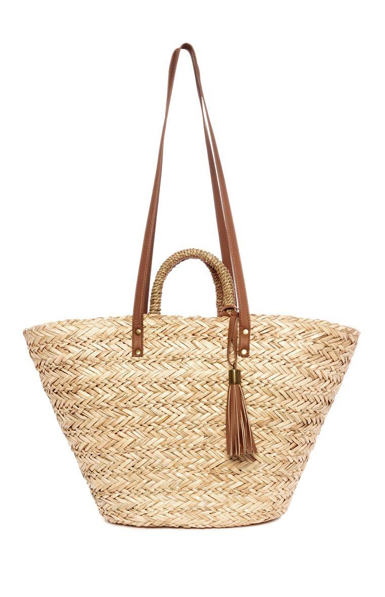 879d148bf1e0 ... Ladies Casual Handbags Bucket Shoulder Bags - A Stream Of Handbags.  Primark - Straw Bucket Bag