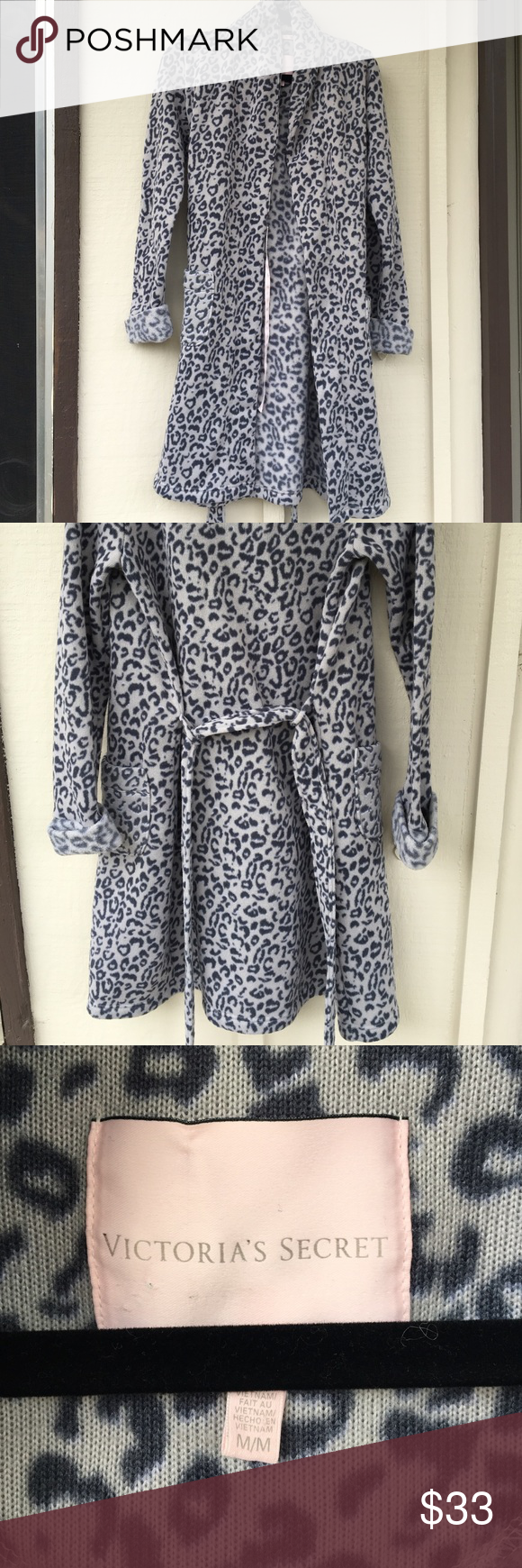 Victoria Secret Cozy Cheetah robe NWOT!! Such a cozy robe! Nice and warm for those cold mornings! Cute cheetah print! Selling for cheap! Victoria's Secret Intimates & Sleepwear Robes