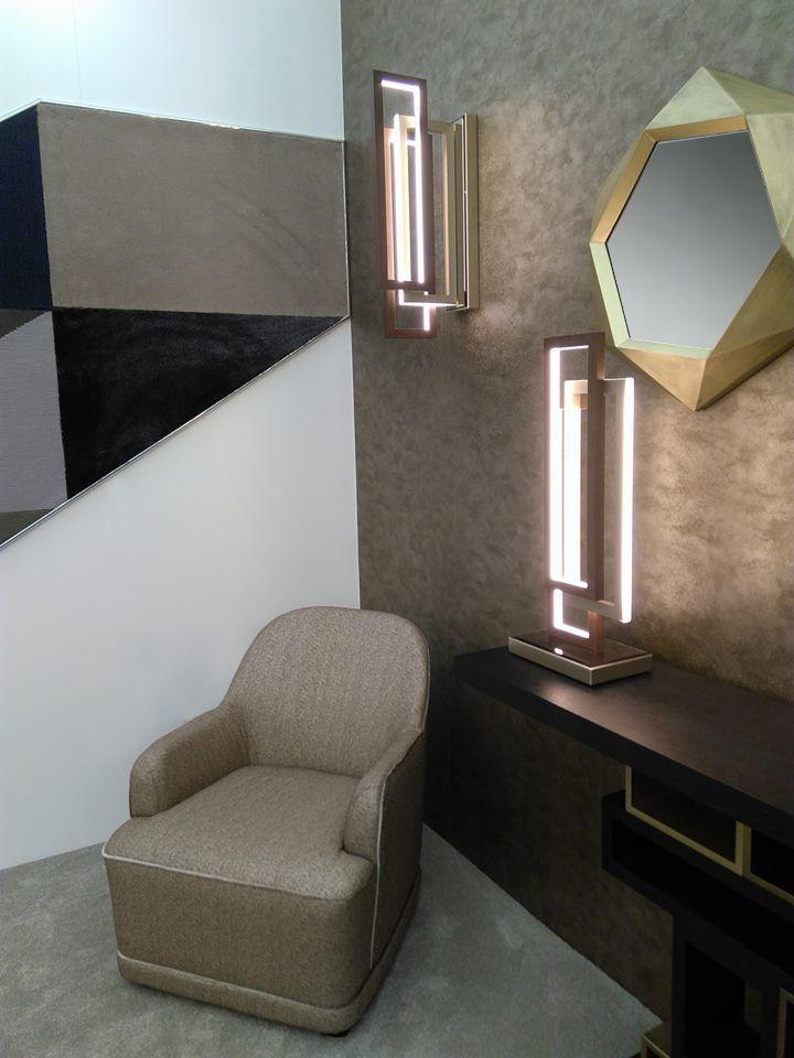 Dauphine armchair Edgle lighting collection Calliope Mirror