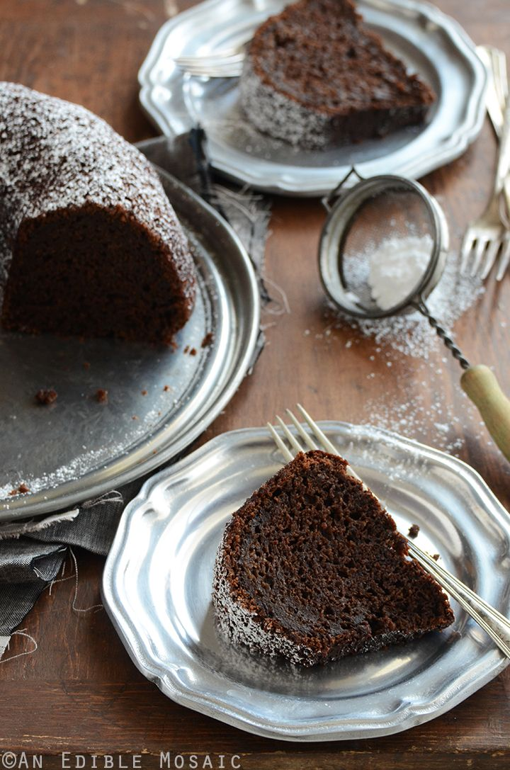 When I was dreaming up this cake I had a decadent chocolate cake in mind. Something really indulgent...sinful, even. Then I looked in my fridge and found three pretty zucchinis that needed to be us...