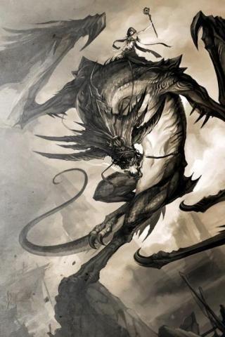 Black Queens ride black dragons