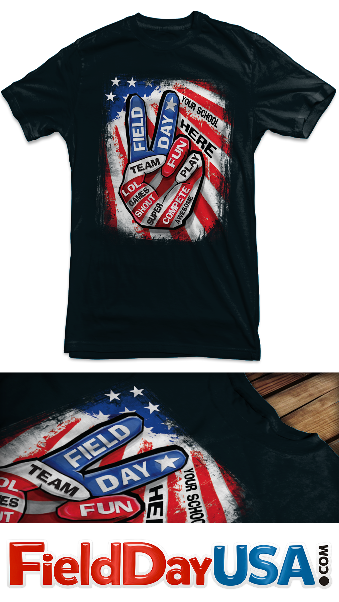 Field Day 2019 by Field Day USA Field day, Shirts, Peace