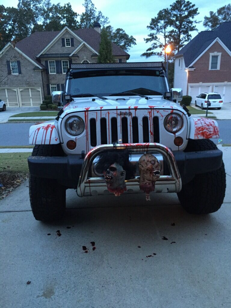 Halloween jeep  Jeep, Halloween car decorations, Jeep accessories