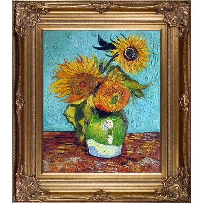 Tori Home 'Sunflowers, First Version' by Vincent Van Gogh Framed Painting Print