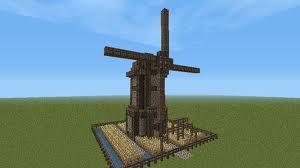 Minecraft Wind Mill Schematic