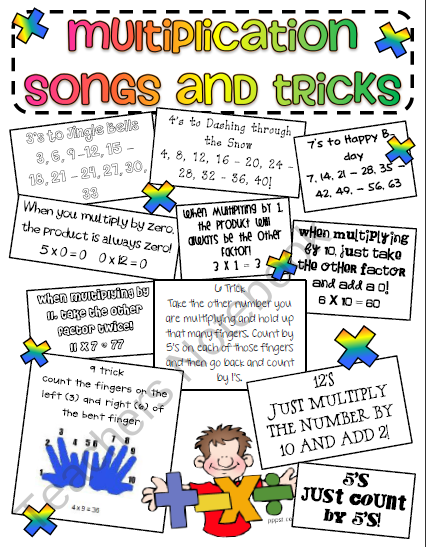 Teachers Notebook Free Download Multiplication Songs And Tric