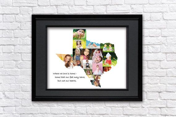 Texas Gifts Photo Collage Texas Forever State Wall Art Usa Map