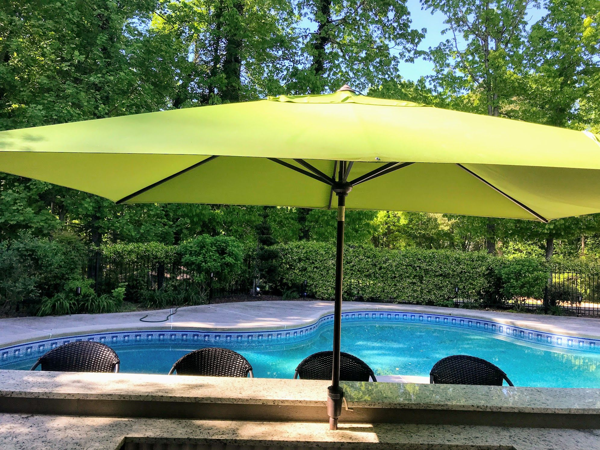 Rectangular Patio Umbrella What Features And What Size Is The