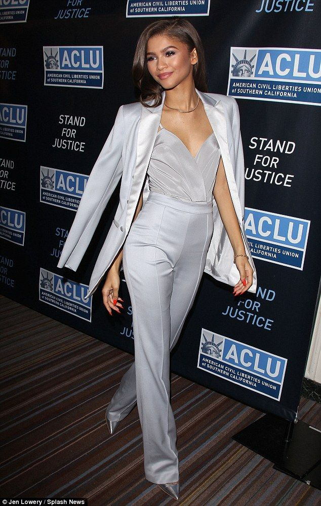 Zendaya looks the picture of elegance as she stuns in