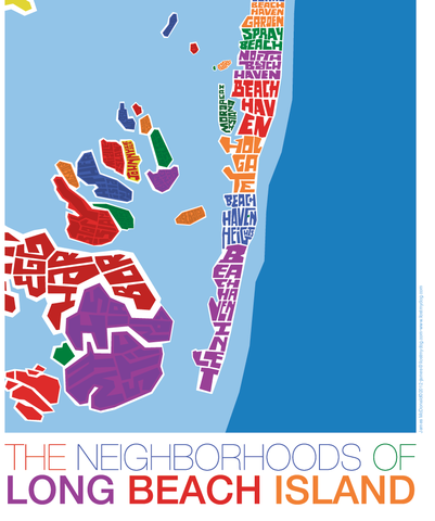 long beach island new jersey type map products maps and long beach