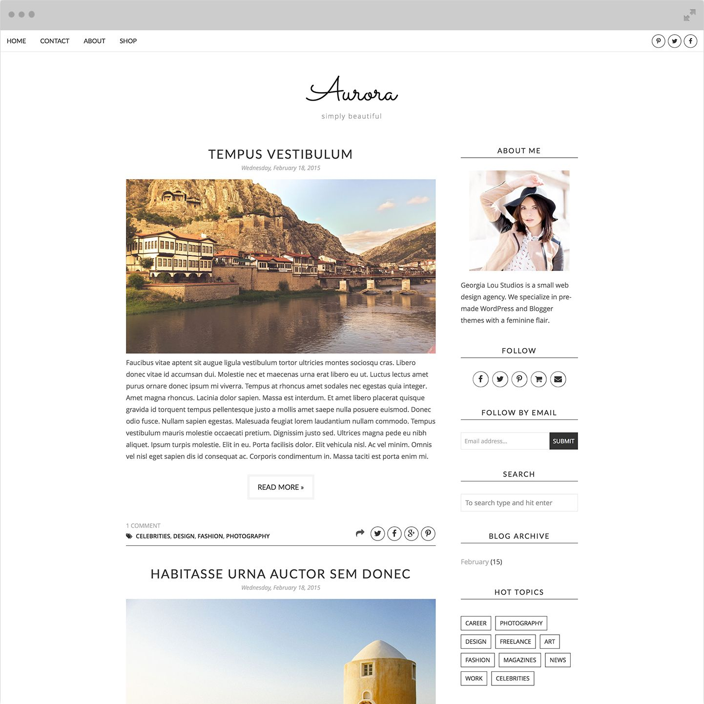 Aurora (Full) Blogger Template | Template and Blogger themes