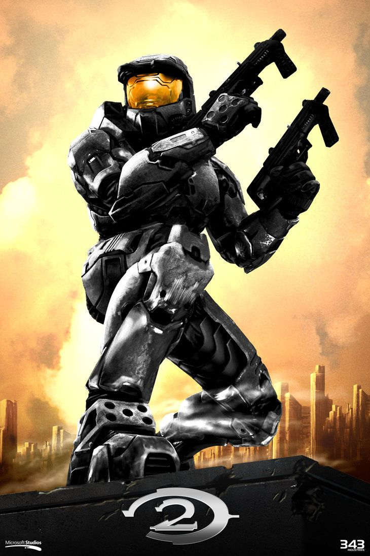 Halo 2 Poster Anniversary Style