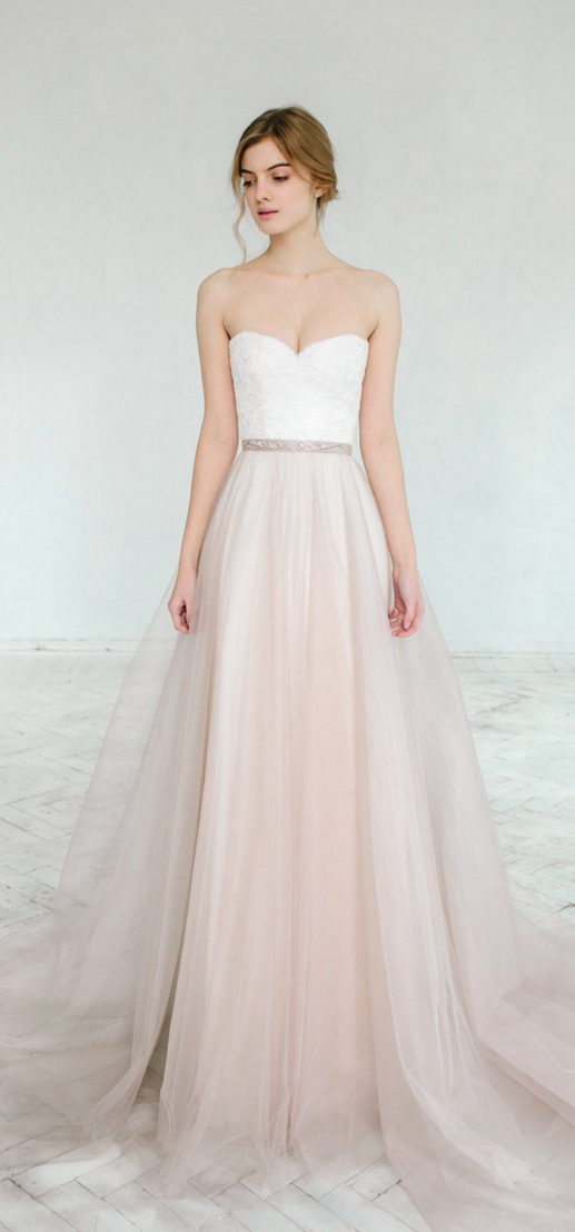 Blush wedding gowns can be very beautiful …   September 23rd 2017 ...
