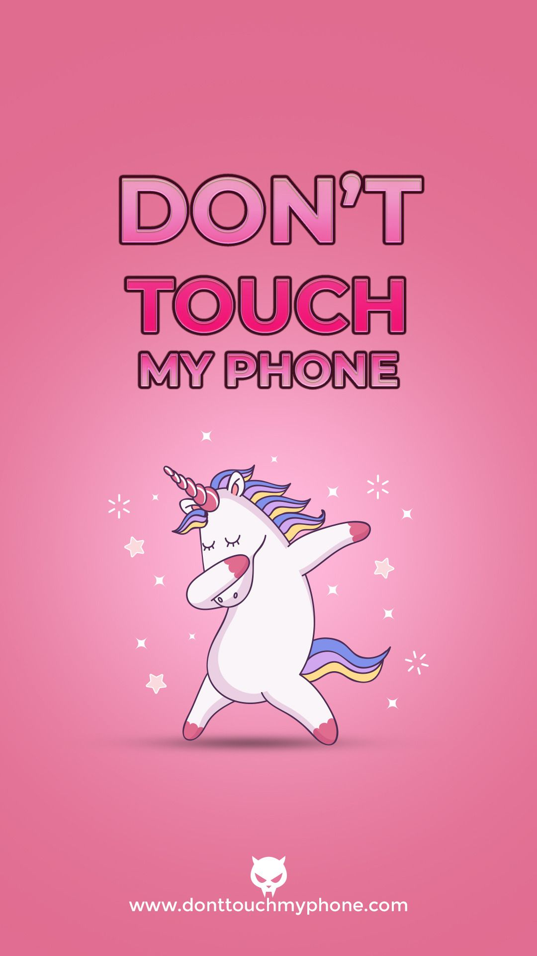 Cute Unicorn Mobile Wallpapers Cute Mobile Wallpapers Dont Touch My Phone Wallpapers Phone Wallpaper Pink