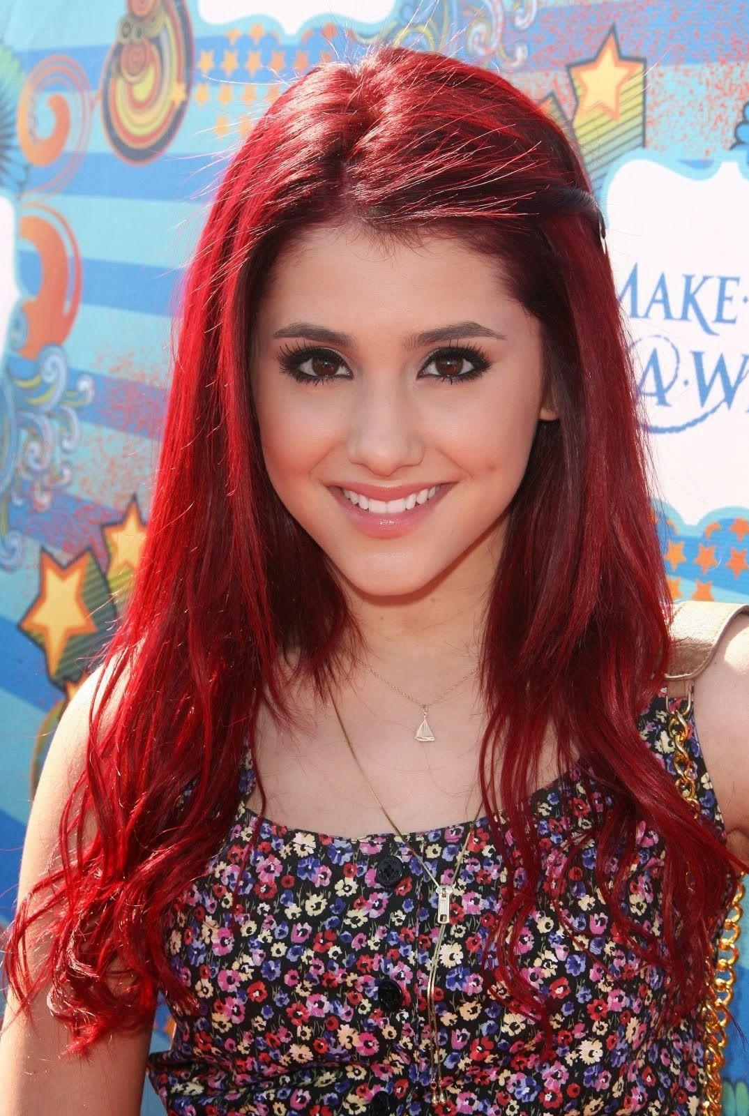 grande red hair Ariana