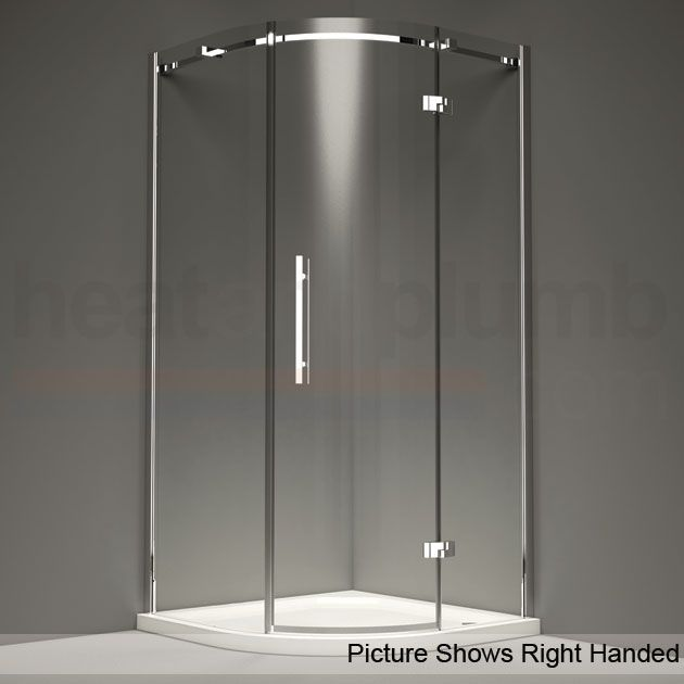 1000 X 800 Mm With High Tray Offset Quadrant Shower Enclosure