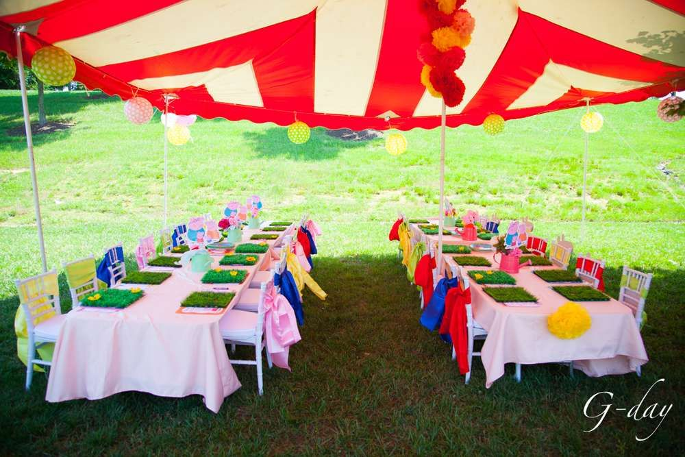 Peppa pig themed party Birthday Party Ideas | Photo 2 of 39 | Catch My Party