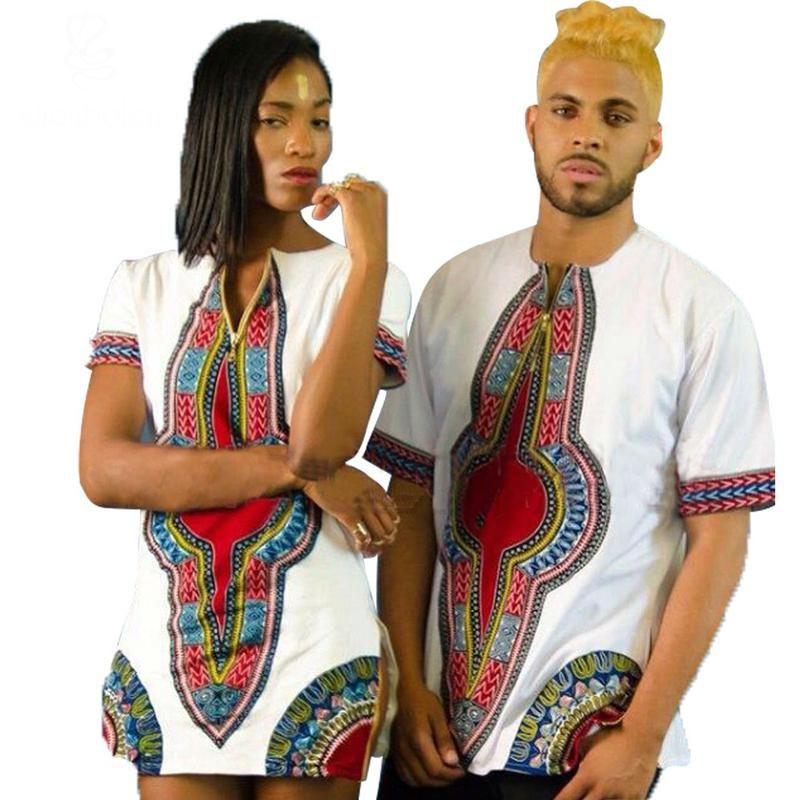 bf65d58a1ebc Shenbolen 2018 summer african clothing splicing dashiki batiks wax print  short sleeve tops T shirt men and women can wear. Yesterday's price: US  $30.79 ...