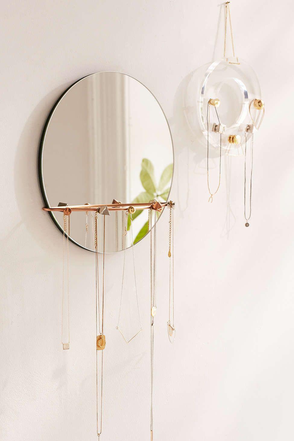 Shapes Hanging Mirror Jewelry Storage Mirror jewelry storage