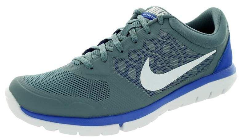 Nike Mens Flex Run 2015 Running Shoe Blue Graphite/White/Game Royal Size: 8  Medium, Black