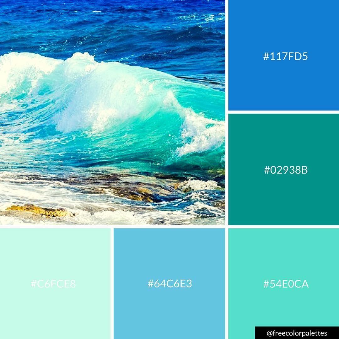 Ocean Blue And Aqua Color Palette Inspiration Digital Art Palette And Brand Color Palette Aqua Color Palette Paint Color Combos Color Palette