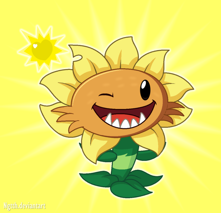 Primal Sunflower By Ngtth Plants Vs Zombies Plants Vs Zombies Birthday Party Sunflower Art