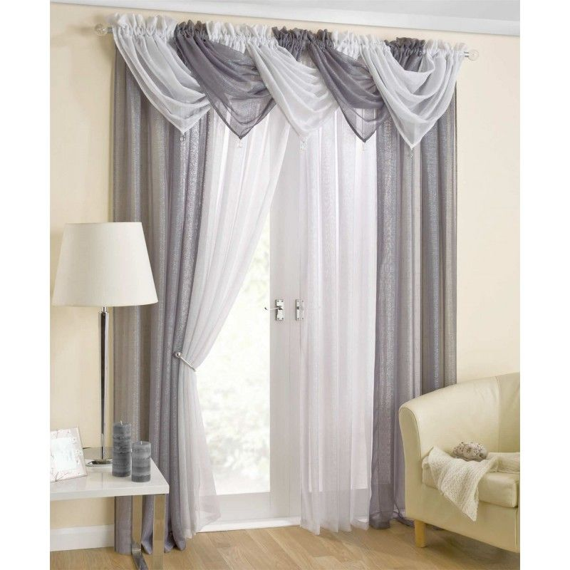 Living room ideas  voile lined curtains ...