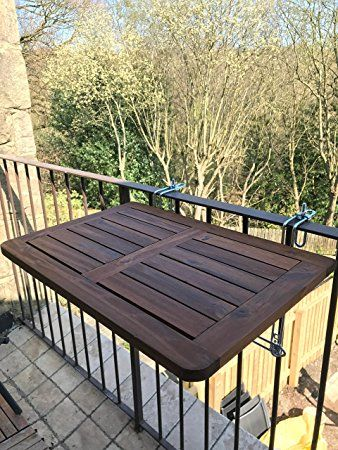 Click Deck Balcony Table Hardwood Folding