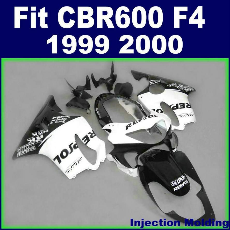 Injection Molding High Grade For HONDA Body Repair Parts Fairings CBR 600 F4 1999 2000 White