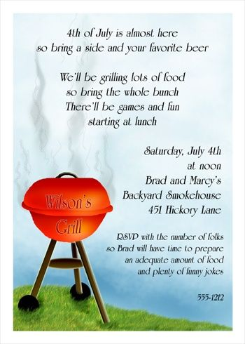 Invitation Wording Samples For Picnics And Family Reunions  Food