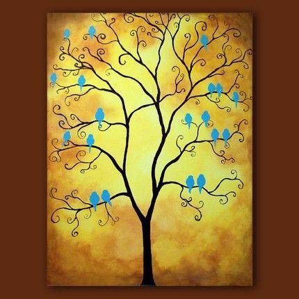 Neat Idea For A Family Tree Painting Family Tree Painting