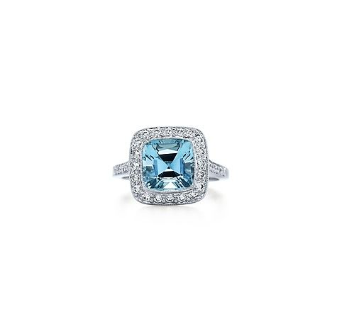'Cause I'm an aquamarine kind of gal. Tiffany's legacy aquamarine platinum ring. . . yes please