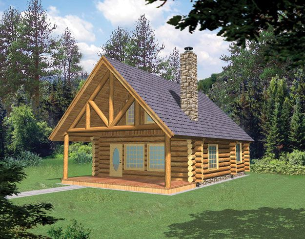 House Plans Home Plans And Floor Plans From Ultimate Plans Log Cabin House Plans Small Rustic House Small Log Homes