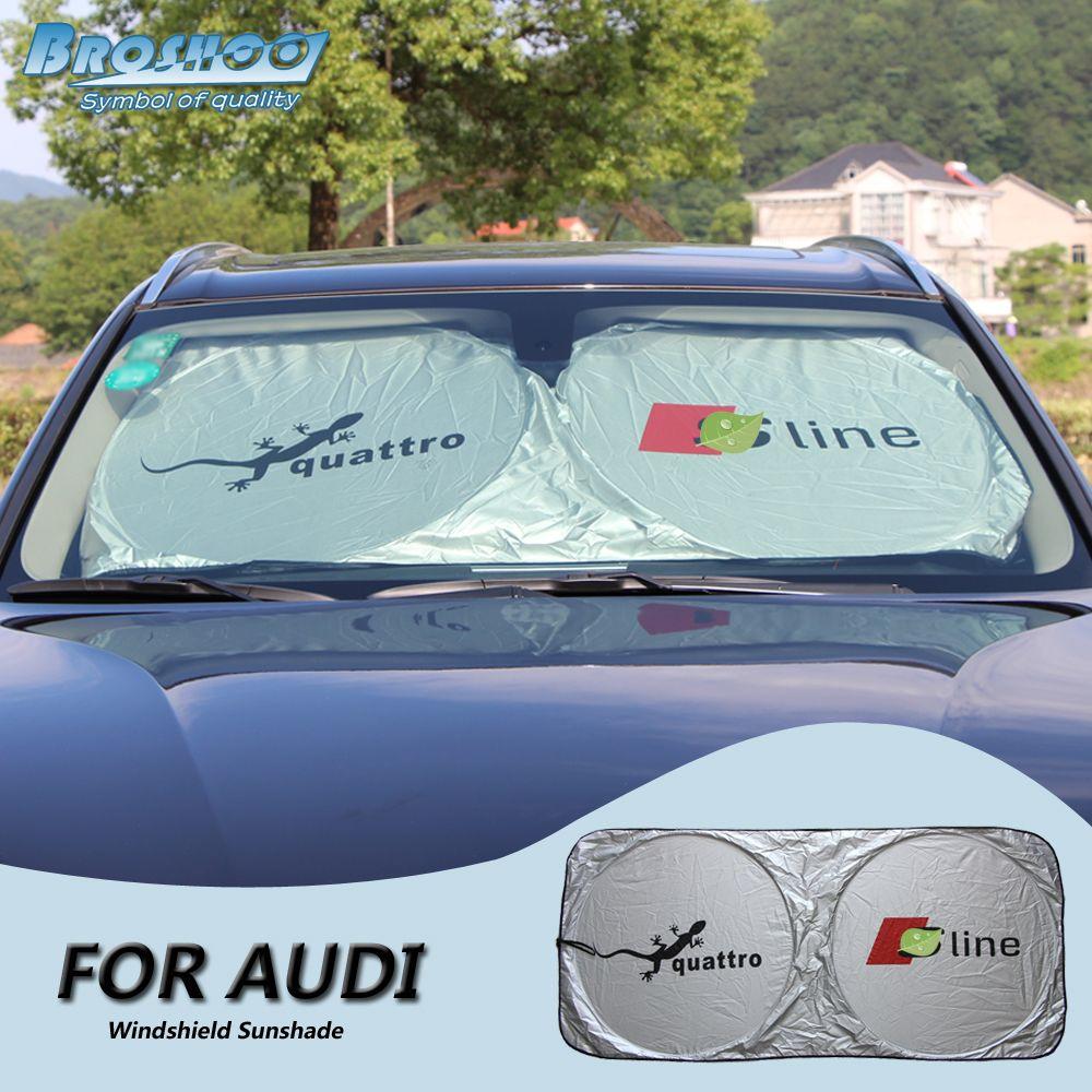 BROSHOO Car Front Windshield Sunshade For AUDI Sline Q3 Q5 Q7 A1 A2 A3 A4 A5 3ec0cc3f858