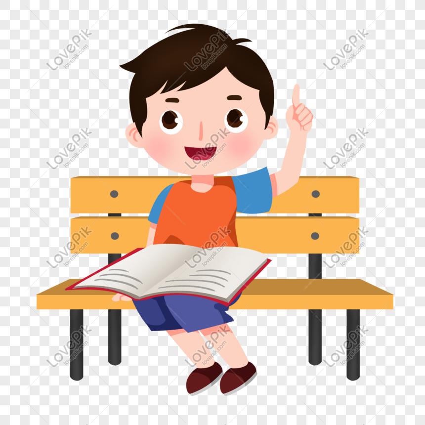 Kartun Membaca Buku Cara Golden