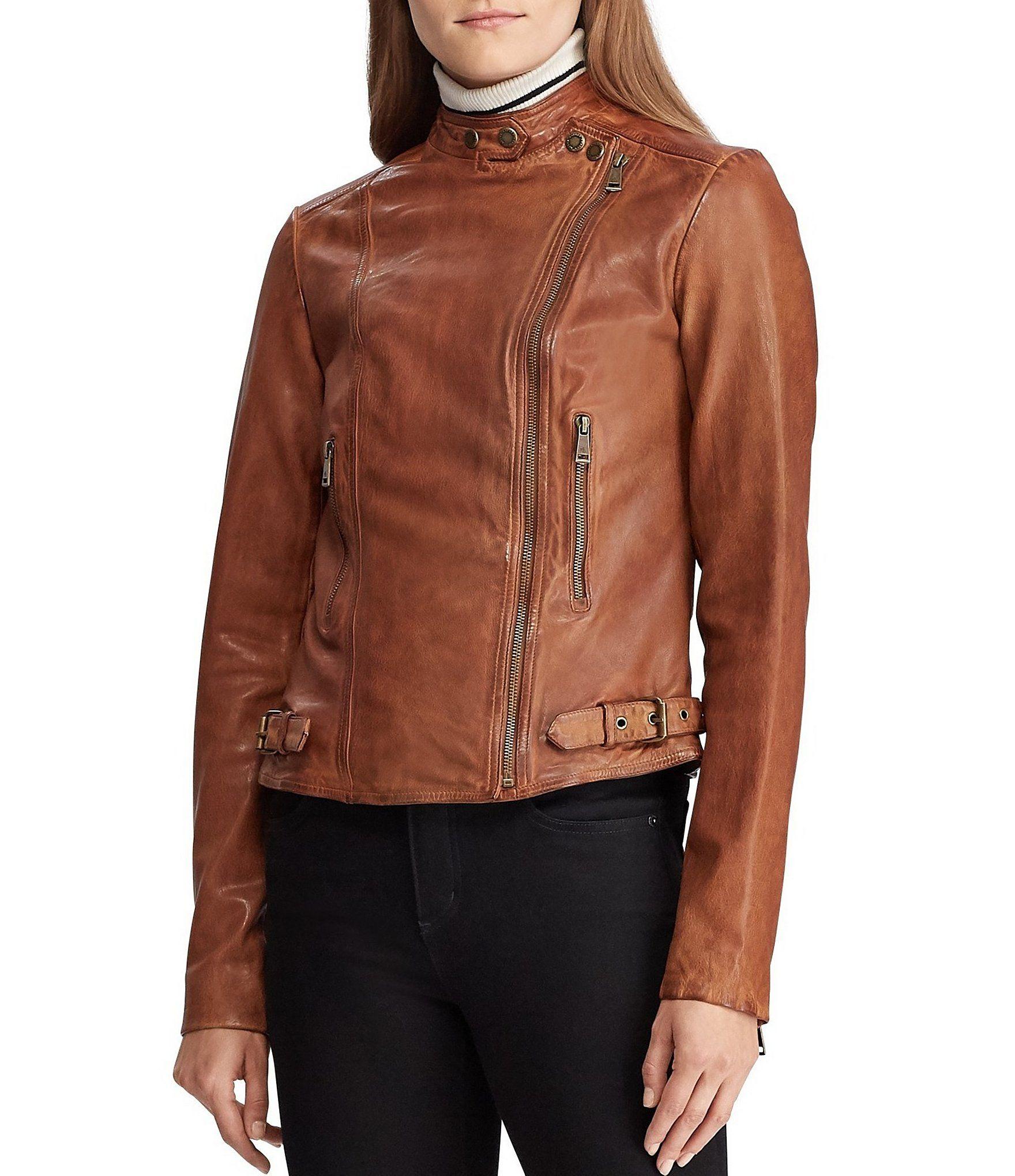 Lauren Ralph Lauren Lambskin Leather Biker Jacket Dillard S Leather Biker Jacket Womens Moto Jacket Leather Moto Jacket [ 2040 x 1760 Pixel ]