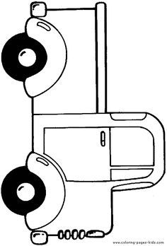 trucks and trains coloring pages - photo#31