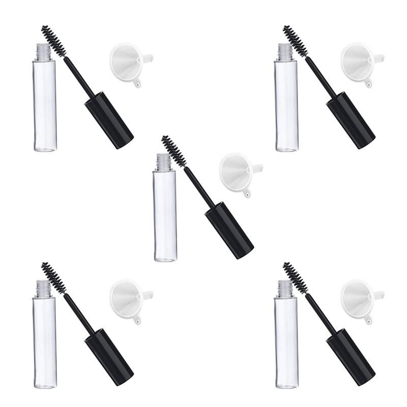 e5deef5e99e 5pcs 10ml Empty Mascara Tube with Eyelash Wand 5pcs Funnels and Transfer  Pipettes Set for Castor Oil DIY Mascara Container portion contol