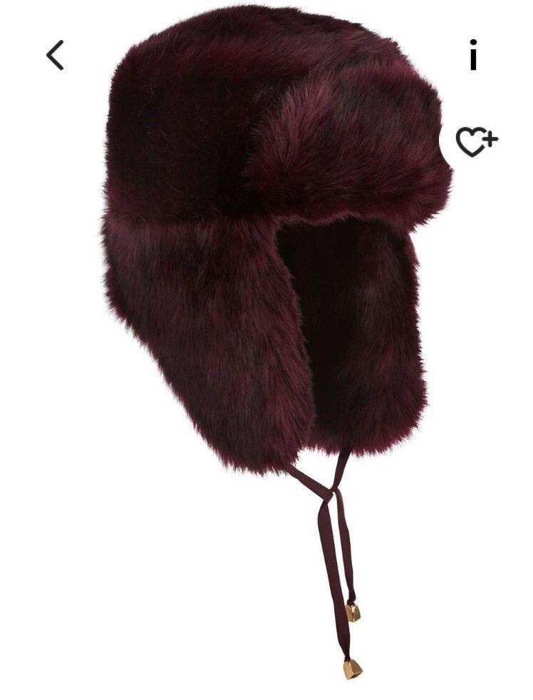 ab69590ddb Miss Selfridge Burgundy Fur Trapper Hat in Clothes, Shoes & Accessories, Women's  Accessories, Hats | eBay!