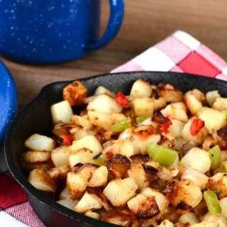 denny's skillet, denny's, skillet, potatoes, vegetables, healthy, breakfast, delicious, easy
