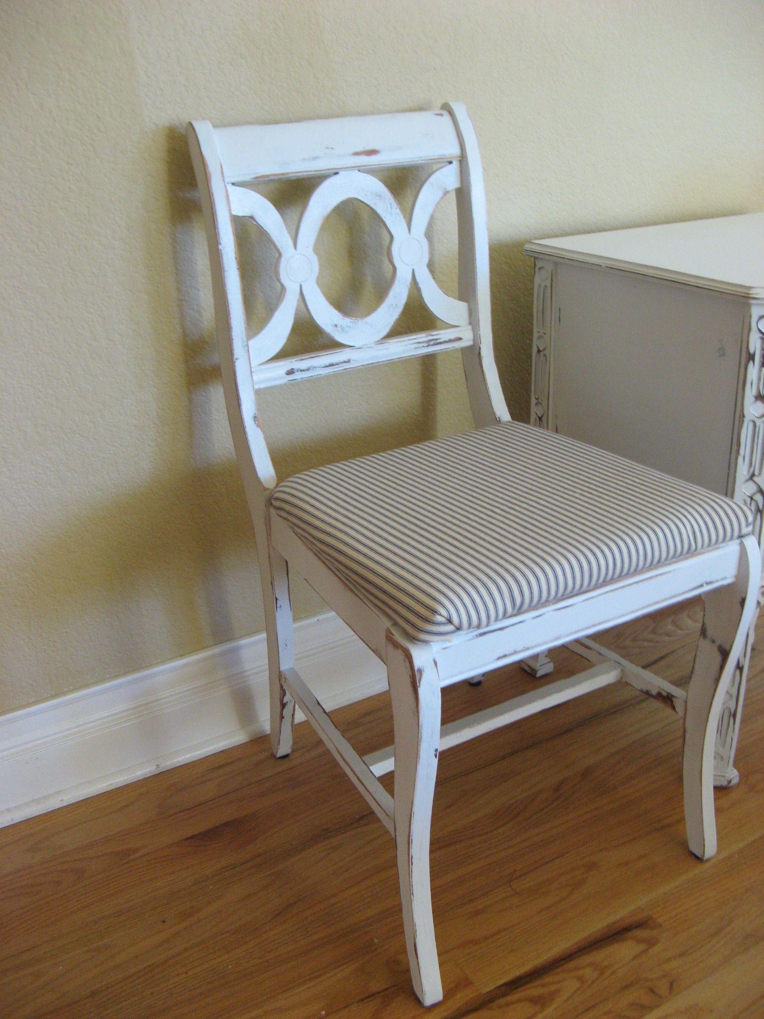 Cute vintage lexington furniture dining chair painted
