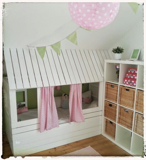diy ikea hausbau f r lotti bett pinterest hausbau. Black Bedroom Furniture Sets. Home Design Ideas