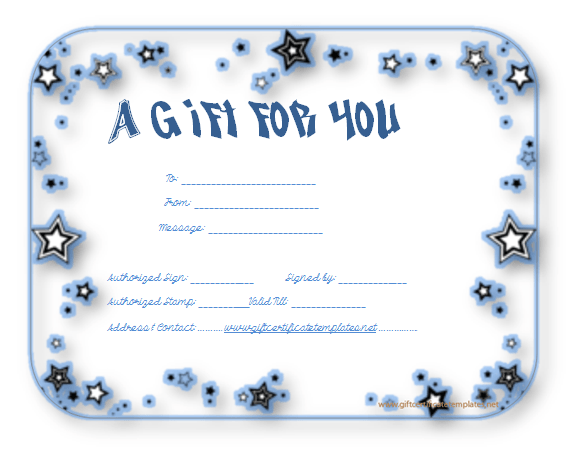 ShiningStarGiftVoucherTemplate  Beautiful Printable Gift