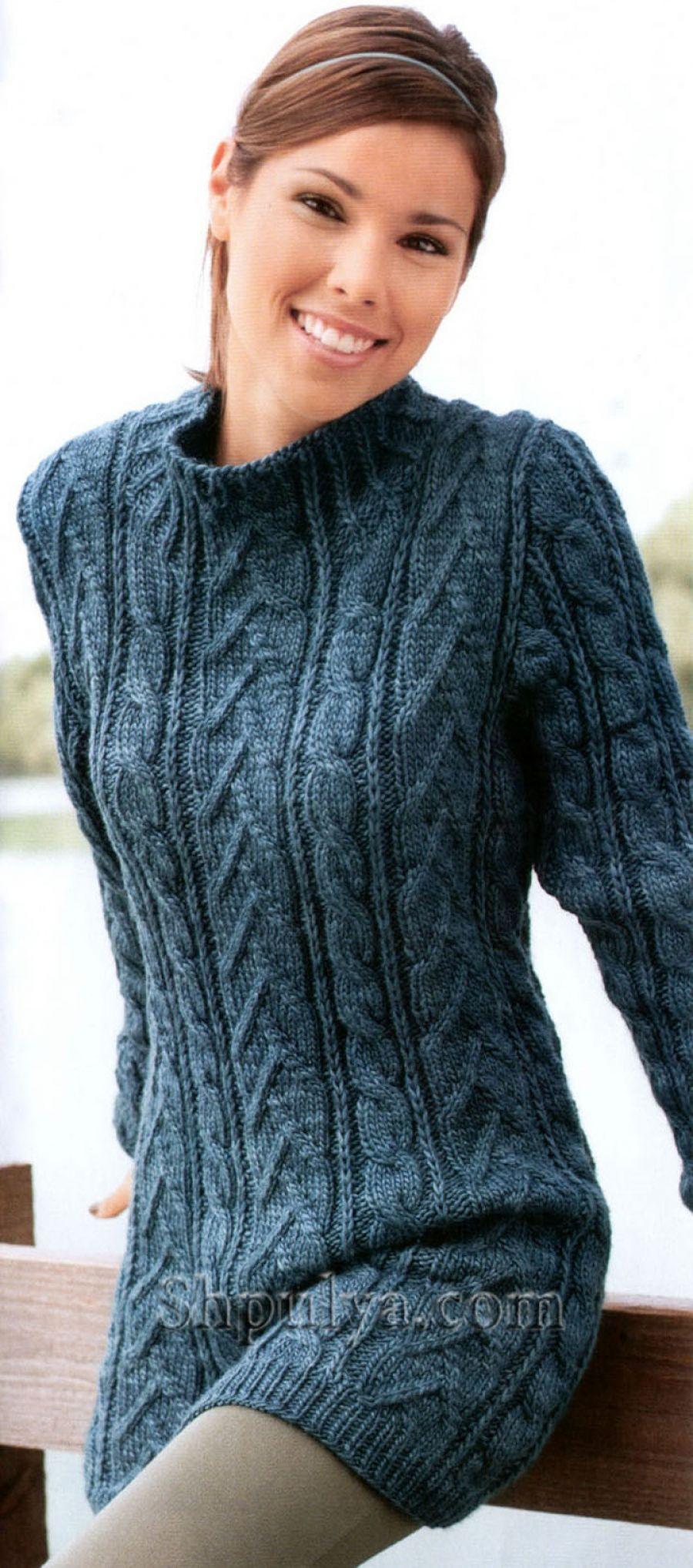 Long patterned sweater knitting needles | crefftau | Pinterest ...